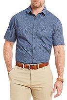 Hart Schaffner Marx Poplin Print Short-Sleeve Shirt
