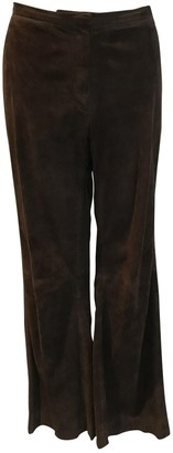 Rena Lange Brown Suede Trousers for Women Vintage