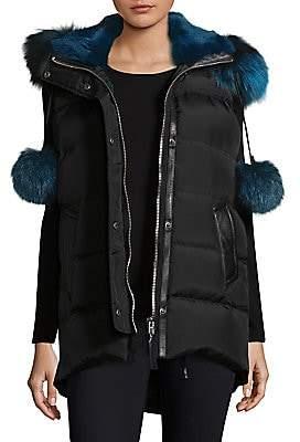 Nicole Benisti Women's Centro Fox Fur Trim Vest