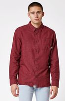 Vans Cardale Flannel Red Long Sleeve Button Up Shirt