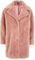 Topshop Teddy faux fur coat