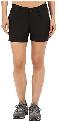 Fjallraven Abisko Stretch Shorts (Black) Women's Shorts