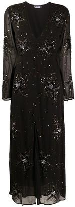 Rixo Sonja sequin-embellished maxi dress