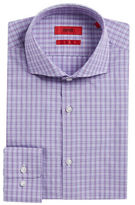 HUGO Sharp-Fit Plaid Dress Shirt