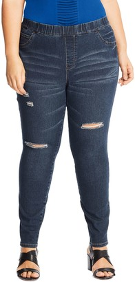 Just My Size Distressed Jeggings 0357 - Plus