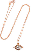 Ileana Makri Kitten Eye 18-karat Rose Gold Diamond Necklace - one size