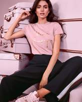 Ted Baker Champagne Logo Fitted T-shirt