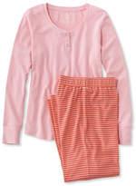 L.L. Bean Women's Ultrasoft Pajama Set, Long-Sleeve Stripe