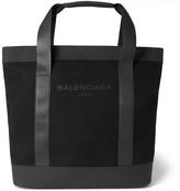 Balenciaga - Canvas And Leather Tote Bag