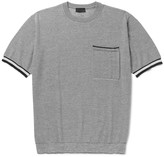 Lanvin Striped Knitted Wool, Cotton and Silk-Blend T-Shirt