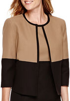 Evan Picone BLACK LABEL BY EVAN-PICONE Black Label by Evan-Picone Crepe Colorblock Jacket