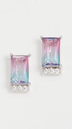 Theia Aurora Emerald Cut Stud Earrings