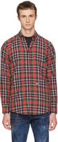 DSQUARED2 Multicolor Check Canada Hiking Shirt