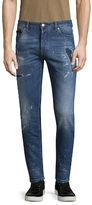 Marcelo Burlon County of Milan Distressed & Faded Jeans