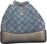 Chanel Gabrielle Blue Denim - Jeans Backpacks