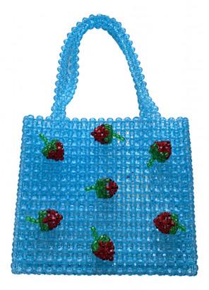 Susan Alexandra Blue Plastic Handbags