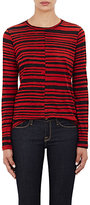 Proenza Schouler Women's Tissue-Weight Long-Sleeve T-Shirt-BLACK, RED