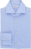 Kiton Men's End-On-End Dress Shirt-BLUE