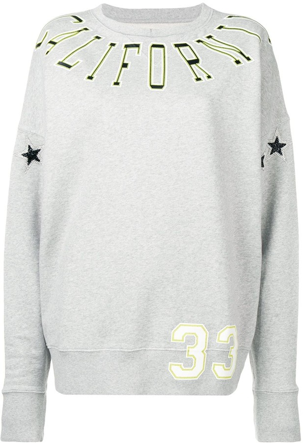 Faith Connexion Oversized Printed Sweatshirt