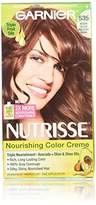 Garnier Nutrisse Nourishing Hair Color Creme, 535 Medium Gold Mahogany Brown, 3 Count (Packaging May Vary)