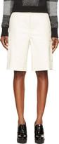 Rag & Bone Cream Leather Combat Shorts