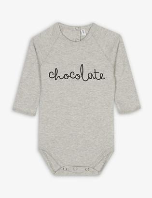 Organic Zoo Chocolate cotton bodysuit 0-12 months