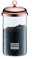 Bodum CLASSIC Storage Jar (With Lid, Chrome Finish, 1.0 L/34 oz) - Copper