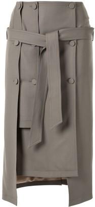 Rokh layered midi skirt
