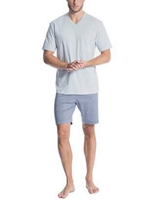 Calida Men's Relax Streamline 1 Pyjama Set, Mountain Blue 448, Large