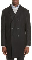Armani Collezioni Men's Double-Breasted Wool Topcoat