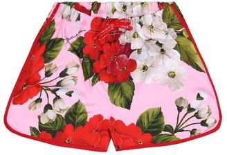 Dolce & Gabbana Kids Floral technical shorts