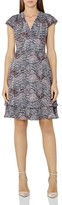 Reiss Angelika Printed Tiered-Hem Dress