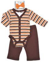 Vitamins Baby Baby Boy Thanksgiving Bodysuit, Pants & Bowtie Set