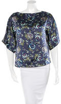Suno Silk Printed Top