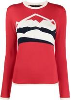 Thumbnail for your product : Perfect Moment Jacquard Logo Merino Knit Jumper