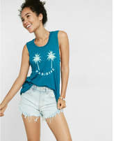 Express Palm Tree Paradise Muscle Tank