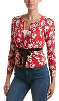 Tracy Reese Tie-waist Silk-trim Cardigan.