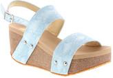 Volatile Women's Sandals POWDER - Light Blue Judie Cork Wedge - Women