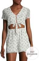 Lucca Couture Women's Tie Front Romper
