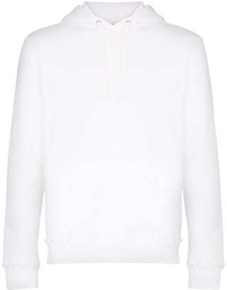 Valentino Rockstud embellished cotton blend hoodie