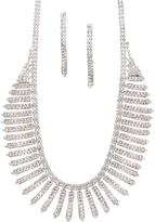 Love Rocks Crystal Bar Necklace & Drop Earrings