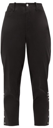 ÀCHEVAL PAMPA Panelled Stretch-cotton Satin Trousers - Womens - Black