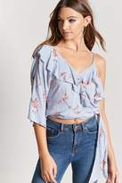 Forever 21 Pinstriped Flounce Top