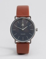Asos Watch in Tan With Minimal Face