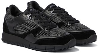 Jimmy Choo Java/F leather and mesh sneakers