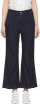 Isabel Marant Navy Parsley Kick Flare Jeans