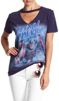 Freeze Captain America Choker Graphic Tee