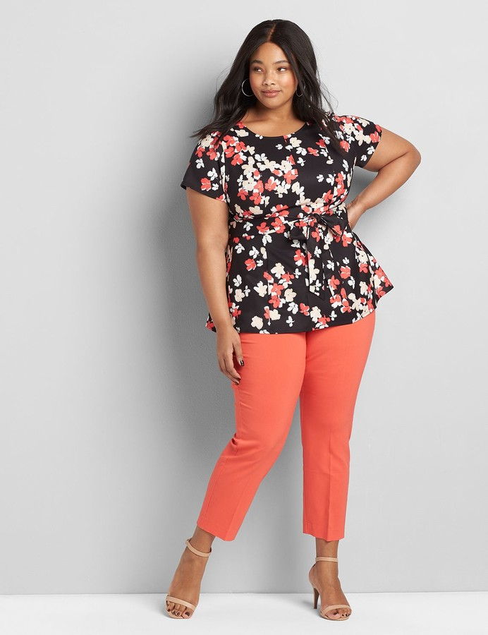 Thumbnail for your product : Lane Bryant Round-Neck Lena Top
