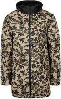 Converse Camo Water Repellent Fishtail Parka With Contrast Hood