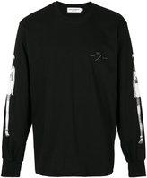 Nattofranco central back printed sweatshirt